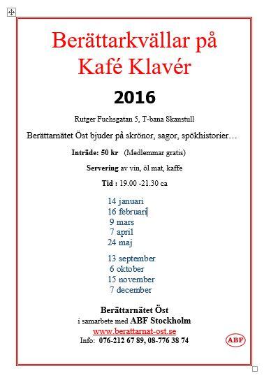 Kafé Klavér 2016
