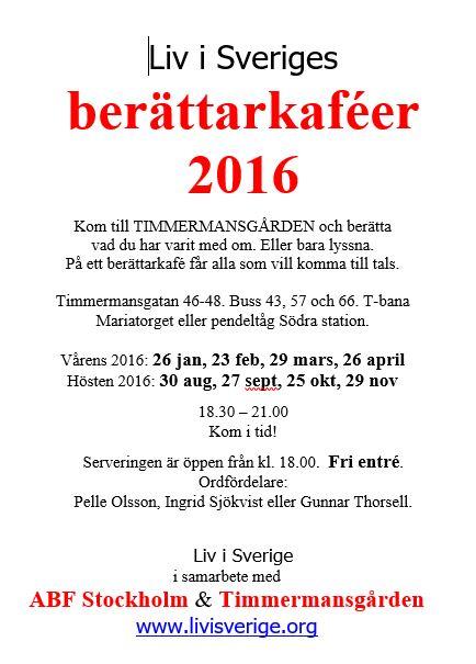 Liv i Sverige 2016