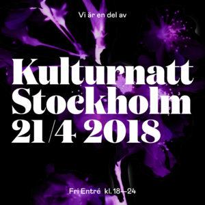 Kulturnatt Stockholm 21 april